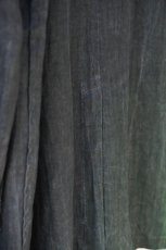 画像15: LINEN SUMIZOME ATELIER COAT CHARCOAL GRAY (15)