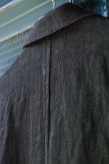 画像14: LINEN SUMIZOME ATELIER COAT CHARCOAL GRAY (14)