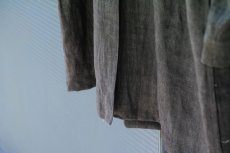 画像17: LINEN SUMIZOME ATELIER COAT GRAY (17)