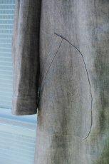 画像12: LINEN SUMIZOME ATELIER COAT GRAY (12)