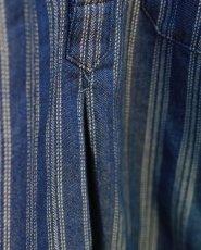 画像13: STRIPE JACQUARD CHAMBRAY PULLOVER SHIRTS (13)