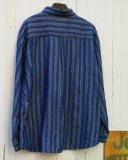 画像10: STRIPE JACQUARD CHAMBRAY PULLOVER SHIRTS (10)