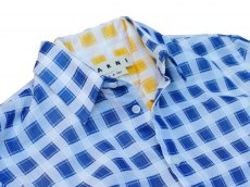 画像2: M A R N I   TRICK SHIRTS BLUECECK/YELLOW CHECK   CUMU0048Q0 (2)