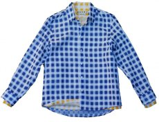 画像1: M A R N I   TRICK SHIRTS BLUECECK/YELLOW CHECK   CUMU0048Q0 (1)