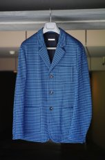 画像9: M A R N I   BLUE BLACK TAILORED JACKET   GUMU0004A0 (9)
