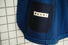 画像17: M A R N I   BLUE BLACK TAILORED JACKET   GUMU0004A0 (17)