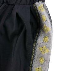 画像3: VINTAGE TEXTILE BLACK ALOHA LINE EASY PANTS (3)