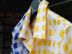 画像15: M A R N I   TRICK SHIRTS BLUECECK/YELLOW CHECK   CUMU0048Q0 (15)