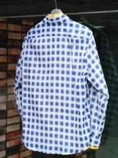 画像10: M A R N I   TRICK SHIRTS BLUECECK/YELLOW CHECK   CUMU0048Q0 (10)