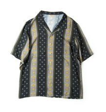画像1: VINTAGE TEXTILE BLACK ALOHA SHIRTS SHORT SLEEVE (1)