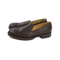 画像4: VARDE77 WESTERN LEATHER SLIP-ON BROWN (4)