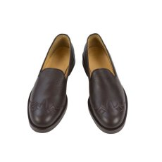 画像2: VARDE77 WESTERN LEATHER SLIP-ON BROWN (2)