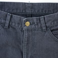 画像2: VARDE77 PARE AWAY STANDARD SLIM DENIM PANTS BLACK BIOWASH (2)