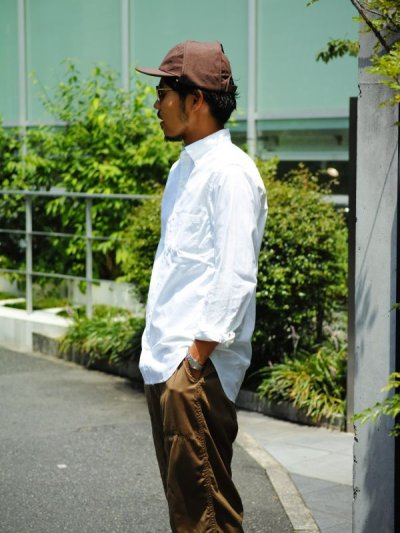 画像2: ts(s) Middle Weight Cotton Oxford Cloth B.D. Shirt WHITE