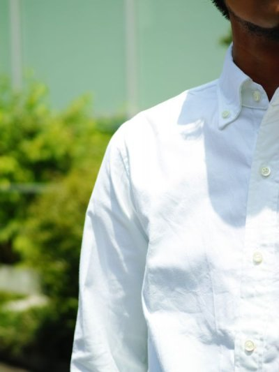 画像3: ts(s) Middle Weight Cotton Oxford Cloth B.D. Shirt WHITE