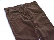 画像2: VARDE77 TAPERED CORDUROY PANTS  BROWN (2)