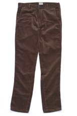 画像1: VARDE77 TAPERED CORDUROY PANTS  BROWN (1)