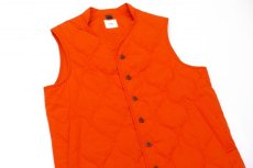 画像2: ts(s) Lightweight High Count Polyester*Cotton Poplin Cloth Quilted Liner Vest ORANGE (2)
