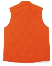 画像7: ts(s) Lightweight High Count Polyester*Cotton Poplin Cloth Quilted Liner Vest ORANGE (7)