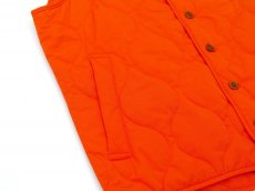 画像6: ts(s) Lightweight High Count Polyester*Cotton Poplin Cloth Quilted Liner Vest ORANGE (6)