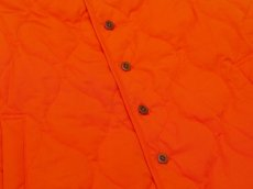 画像5: ts(s) Lightweight High Count Polyester*Cotton Poplin Cloth Quilted Liner Vest ORANGE (5)