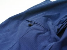 画像12: ts(s) Garment Dye Brushed Pinstripe Stretch Cloth Wide Lapel Square Hem Jacket ROYAL (12)