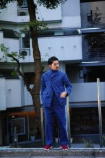 画像17: ts(s) Garment Dye Brushed Pinstripe Stretch Cloth Wide Lapel Square Hem Jacket ROYAL (17)