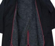 画像10: VARDE77 VINTAGE STAND-FALL COLLAR COAT WITH LINER BLACK (10)