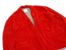 画像2: ts(s) Fluffy Polyester Fleece Jersey Lined Easy Cardigan RED (2)