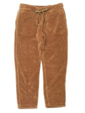 画像1: ts(s) Fluffy Polyester Fleece Jersey Slim Sweat Pants KHAKI (1)