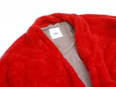 画像3: ts(s) Fluffy Polyester Fleece Jersey Lined Easy Cardigan RED (3)