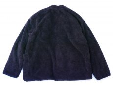 画像5: ts(s) Fluffy Polyester Fleece Jersey Lined Easy Cardigan NAVY (5)