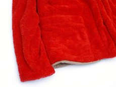画像4: ts(s) Fluffy Polyester Fleece Jersey Lined Easy Cardigan RED (4)