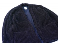 画像2: ts(s) Fluffy Polyester Fleece Jersey Lined Easy Cardigan NAVY (2)