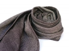 画像2: ts(s) Cotton Light Blanket Cloth Bias Cut Scarf BROWN (2)