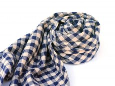 画像2: ts(s) Double-sided Brushed Block Plaid Cotton Cloth Bias Cut Scarf BEIGE (2)