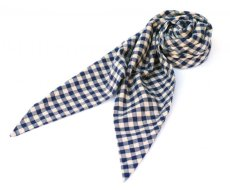 画像1: ts(s) Double-sided Brushed Block Plaid Cotton Cloth Bias Cut Scarf BEIGE (1)