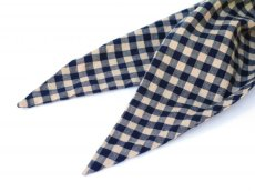 画像4: ts(s) Double-sided Brushed Block Plaid Cotton Cloth Bias Cut Scarf BEIGE (4)