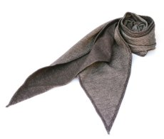 画像1: ts(s) Cotton Light Blanket Cloth Bias Cut Scarf BROWN (1)