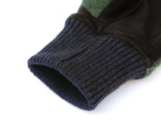 画像5: HONNS LEATHER WOOL QUILTING GLOVE OLIVE (5)