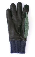 画像2: HONNS LEATHER WOOL QUILTING GLOVE OLIVE (2)