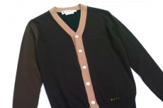 画像2: M A R N I  COLOR BLOCK CARDIGAN BROWN (2)
