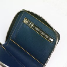 画像5: M A R N I ROUND ZIP SHORT WALLET BLUE (5)
