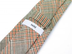 画像2: ts(s) Color Glen Plaid Cotton*Linen Cloth Neck Tie GREEN (2)