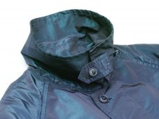 画像6: ts(s) Super Iridescent Nylon*Polyester Taffeta Cloth Fly Front Raglan Sleeve Coat NAVY (6)
