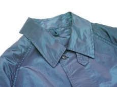 画像3: ts(s) Super Iridescent Nylon*Polyester Taffeta Cloth Fly Front Raglan Sleeve Coat NAVY (3)