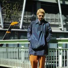 画像7: ts(s) Super Iridescent Nylon*Polyester Taffeta Cloth Fly Front Raglan Sleeve Coat NAVY (7)