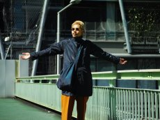 画像10: ts(s) Super Iridescent Nylon*Polyester Taffeta Cloth Fly Front Raglan Sleeve Coat NAVY (10)