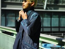 画像9: ts(s) Super Iridescent Nylon*Polyester Taffeta Cloth Fly Front Raglan Sleeve Coat NAVY (9)