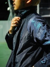 画像12: ts(s) Super Iridescent Nylon*Polyester Taffeta Cloth Fly Front Raglan Sleeve Coat NAVY (12)